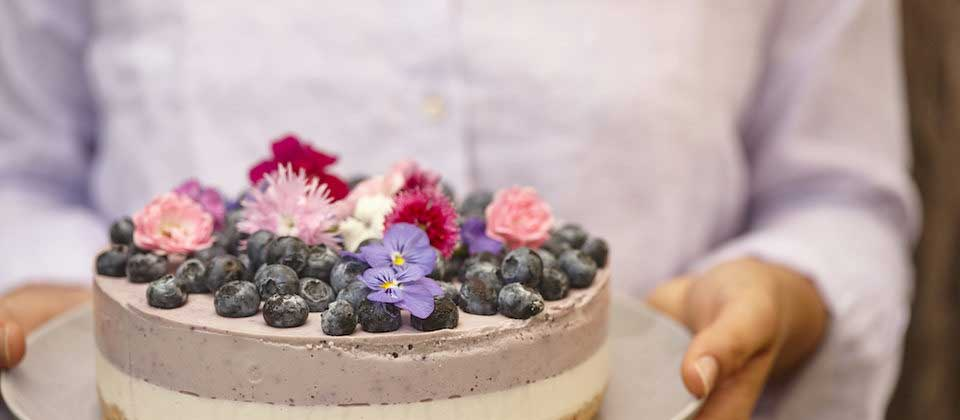 Lemon and blueberry macadamia 'cheesecake'